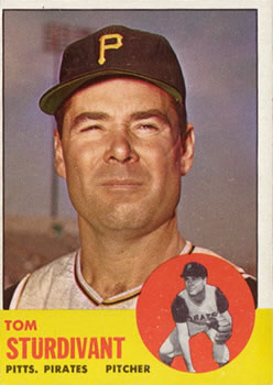 1963 Topps Baseball Cards      281     Tom Sturdivant