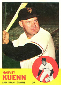 1963 Topps Baseball Cards      030      Harvey Kuenn