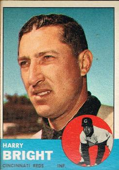 1963 Topps Baseball Cards      304     Harry Bright