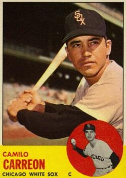 1963 Topps Baseball Cards      308     Camilo Carreon