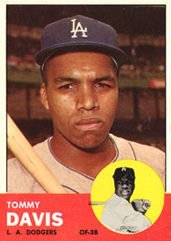 1963 Topps Baseball Cards      310     Tommy Davis