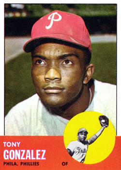 1963 Topps Baseball Cards      032      Tony Gonzalez