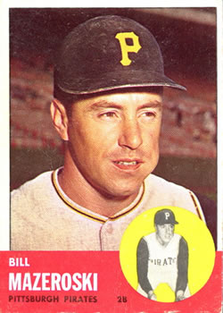 1963 Topps Baseball Cards      323     Bill Mazeroski