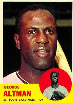 1963 Topps Baseball Cards      357     George Altman