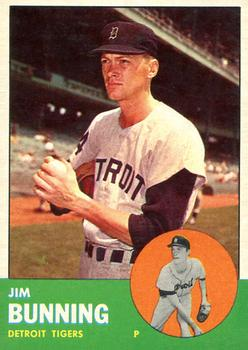 1963 Topps Baseball Cards      365     Jim Bunning