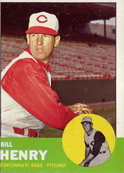 1963 Topps Baseball Cards      378     Bill Henry