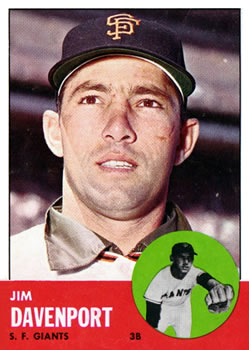1963 Topps Baseball Cards      388     Jim Davenport