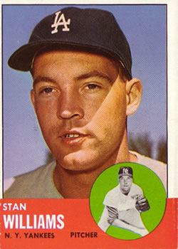 1963 Topps Baseball Cards      042      Stan Williams