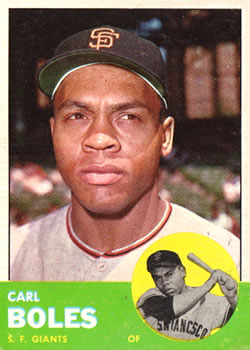 1963 Topps Baseball Cards      428     Carl Boles RC