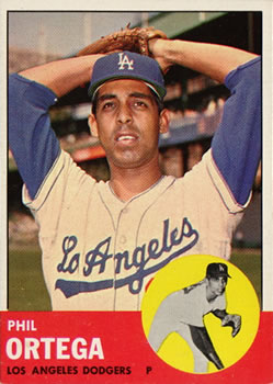 1963 Topps Baseball Cards      467     Phil Ortega