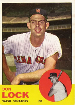 1963 Topps Baseball Cards      047      Don Lock RC