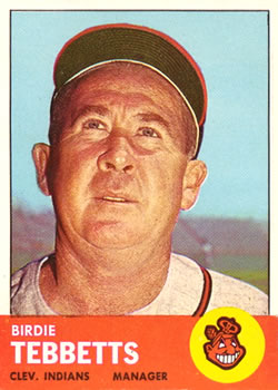 1963 Topps Baseball Cards      048      Birdie Tebbetts MG