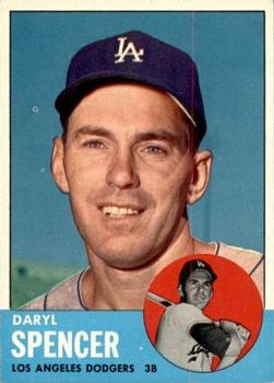 1963 Topps Baseball Cards      502     Daryl Spencer