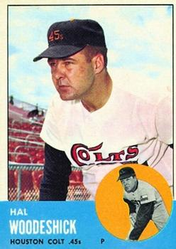 1963 Topps Baseball Cards      517     Hal Woodeshick