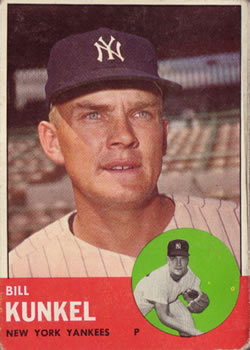 1963 Topps Baseball Cards      523     Bill Kunkel