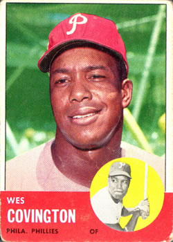 1963 Topps Baseball Cards      529     Wes Covington