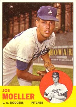 1963 Topps Baseball Cards      053      Joe Moeller RC
