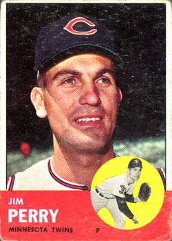 1963 Topps Baseball Cards      535     Jim Perry