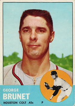 1963 Topps Baseball Cards      538     George Brunet