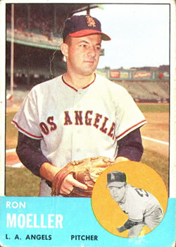 1963 Topps Baseball Cards      541     Ron Moeller