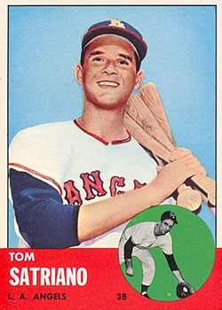 1963 Topps Baseball Cards      548     Tom Satriano RC
