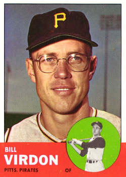1963 Topps Baseball Cards      055      Bill Virdon