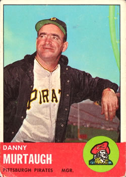 1963 Topps Baseball Cards      559     Danny Murtaugh MG