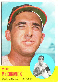 1963 Topps Baseball Cards      563     Mike McCormick