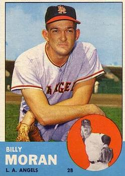 1963 Topps Baseball Cards      057      Billy Moran