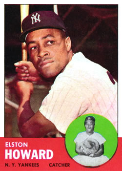 1963 Topps Baseball Cards      060      Elston Howard