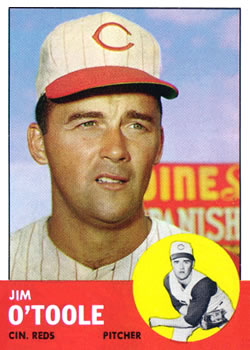 1963 Topps Baseball Cards      070      Jim O Toole
