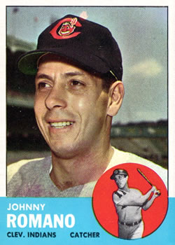 1963 Topps Baseball Cards      072      Johnny Romano