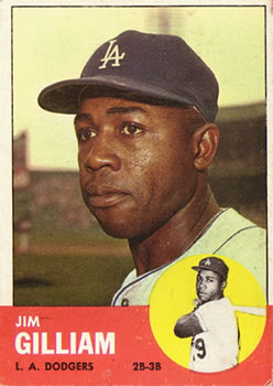 1963 Topps Baseball Cards      080      Jim Gilliam