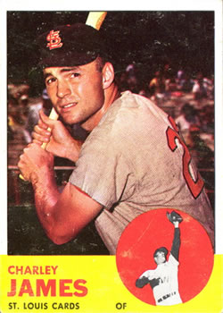 1963 Topps Baseball Cards      083      Charley James