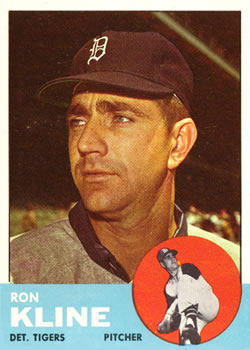 1963 Topps Baseball Cards      084      Ron Kline