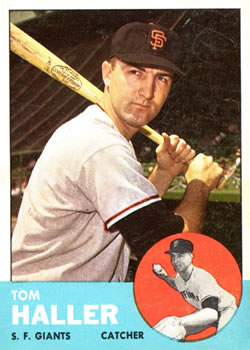 1963 Topps Baseball Cards      085      Tom Haller