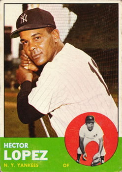 1963 Topps Baseball Cards      092      Hector Lopez