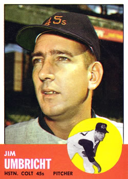1963 Topps Baseball Cards      099      Jim Umbricht