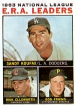 1964 Topps Baseball Cards      001      NL ERA Leaders-Sandy Koufax-Dick Ellsworth-Bob Friend