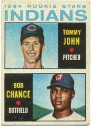 1964 Topps Baseball Cards      146     Rookie Stars-Tommy John RC-Bob Chance RC