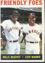 1964 Topps Baseball Cards      041      Friendly Foes-Willie McCovey-Leon Wagner