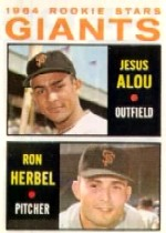 1964 Topps Baseball Cards      047      Rookie Stars-Jesus Alou RC-Ron Herbel