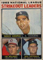 1964 Topps Baseball Cards      005      NL Strikeout Leaders-Sandy Koufax-Jim Maloney-Don Drysdale