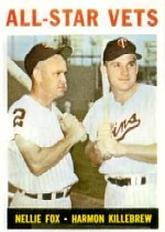 1964 Topps Baseball Cards      081      All-Star Vets-Nellie Fox-Harmon Killebrew