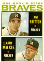 1964 Topps Baseball Cards      094      Rookie Stars-Jim Britton RC-Larry Maxie RC