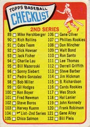 1965 Topps Baseball Cards      104     Checklist 2