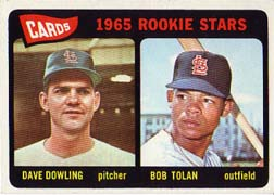 1965 Topps Baseball Cards      116     Rookie Stars-Dave Dowling RC-Bob Tolan RC