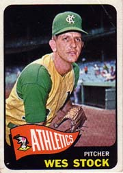1965 Topps Baseball Cards      117     Wes Stock