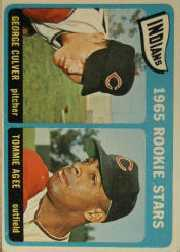 1965 Topps Baseball Cards      166     Rookie Stars-George Culver RC-Tommie Agee RC