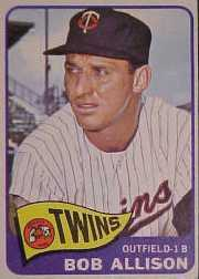 1965 Topps Baseball Cards      180     Bob Allison